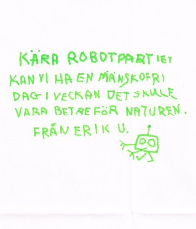 Barn skriver till Robotpartiet