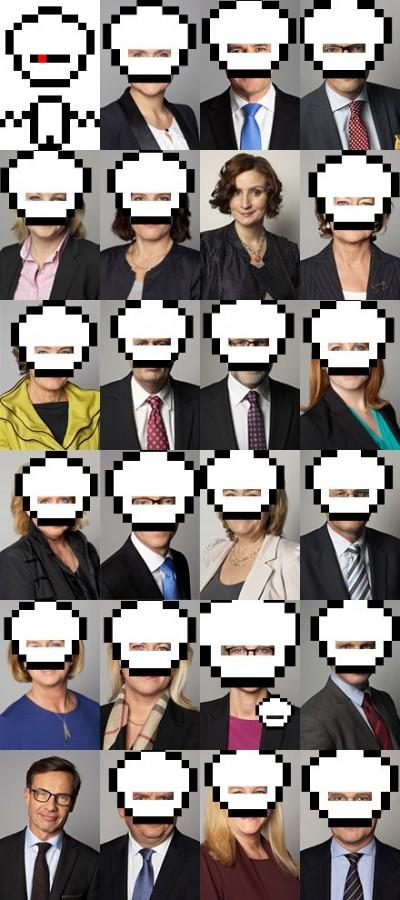 Robotmaskad regering
