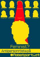 Antipersonrösta på Feminist