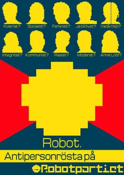 Antipersonrösta på Robot